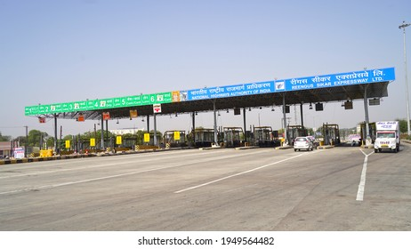 30 March 2021- Akhepura, Sikar, India. Indefinite closed Highway toll plaza during the ongoing farmers protest against the Centre farm reform laws, in Sikar