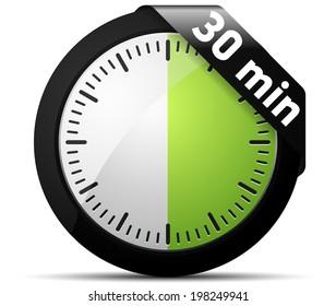 30 minutes timer images stock photos vectors shutterstock. Black Bedroom Furniture Sets. Home Design Ideas
