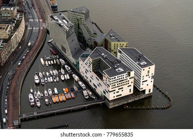 30 November 2017, Amsterdam, Holland. The Palace Of Justice in Amsterdam is a new landmark at the IJdock at river IJ.