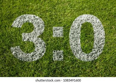 3:0 on soccer meadow