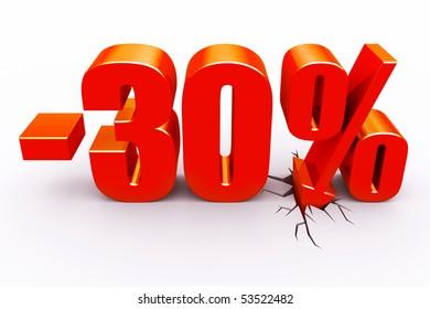 30 percent discount