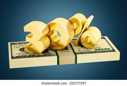 30% - savings - discount - interest rate