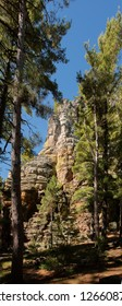 A 300 foot high rock outcropping located in Rochi-A Cri state park in Wisconsin