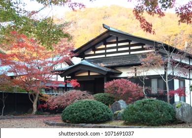 300 year old samurai house in Kakunodate, Japan during Fall.