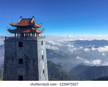 3000 meters above the sea level, Bhudda tower on the top of Fansipan mountain, Sapa , Vietnam,