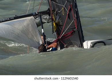 "30.06.2018, Hungary, Lake Balaton; Sailing race on hungary, name: ""Ezust Szalag"" 30.06.2018, Hungary, Lake Balaton"