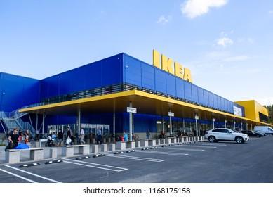 30.08.2018. RIGA, LATVIA. IKEA LATVIA Store opening.  IKEA (Ingvar Kamprad Elmtaryd Agunnaryd) is a Swedish international company. The company is now the world's largest furniture retailer