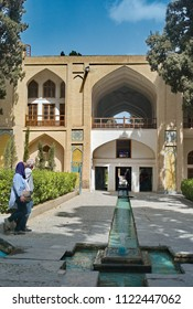 30/3/2018 kashan iran;unidentified iranians people are walk in fin garden.Iran is one of the most famous royal gardens of the country and the place where Amir Kabir was murdered