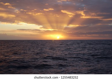 3086 Sunset during Atlantic Ocean crossing