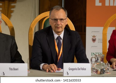 30th May 2019, Trento, Italy; Festival dell' Economia - Trento 2019; Gregorio De Felice attend during Festival dell' Economia Inauguration in Trento on May 30, 2019.