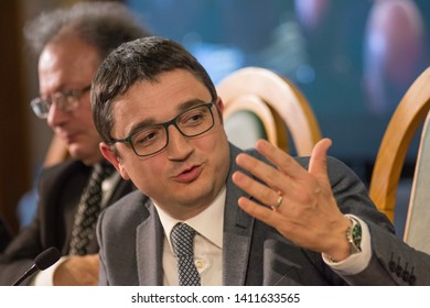 30th May 2019, Trento, Italy; Festival dell' Economia - Trento 2019; Maurizio Fugatti attend during Festival dell' Economia Inauguration in Trento on May 30, 2019.