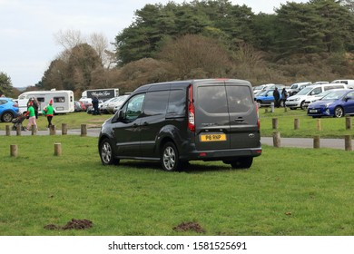 30th November 2019- A stylish Ford Transit Connect van, built in 2016, parked in a public parking area in Pembrey Country Park, Carmarthenshire, Wales, UK.