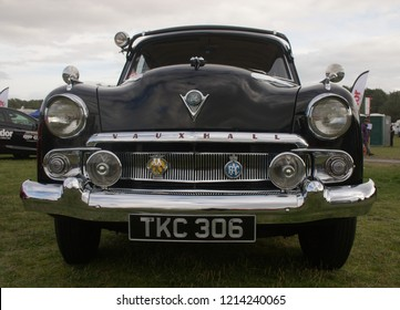 30th September 2018- A 1955 Vauxhall Cresta at a classic car show in Pembrey Country Park near Llanelli, Carmarthenshire, Wales, UK.
