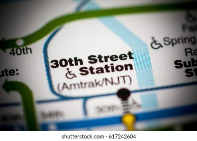 30th St Station. Philadelphia Metro map.