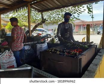 31 August 2020 - The making of Terengganu famous delicacy (satar) near Pantai Teluk Mak Nik, Kemaman, Terengganu