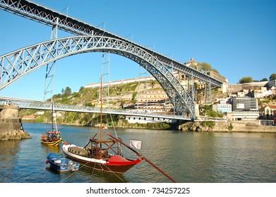 31 may 2013-oporto-portugal-The Dom Luas bridge in Porto in Portugal