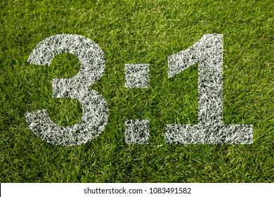 3:1 on soccer meadow