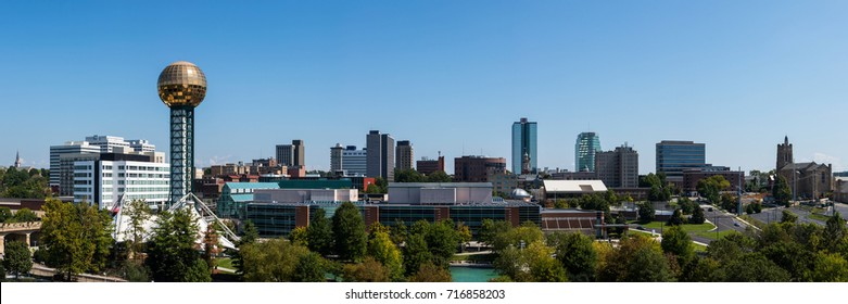 A 3:1 panoramic of downtown Knoxville, TN
