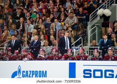 31.08.2017. RIGA,LATVIA.  KHL 2017/2018 season first home game Dinamo Riga vs. HC Spartak Moscow