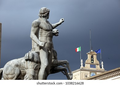 31.10.2015. Rome, Italy: Election Italy. On March 4th in Italy the elections for the renewal of the  parliament are held. The Quirinale Palace in Rome, seat of the President of the Italian Republic.
