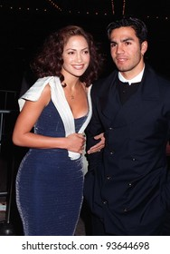 "31MAR97:  Actress JENNIFER LOPEZ & husband at the premiere of ""That Old Feeling"". Pix: PAUL SMITH"
