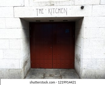 31st October 2018 Dublin. Entrance to the iconic 1990's The Kitchen nightclub, part of the Clarence Hotel owned by Bono and the Edge from U2.