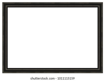 3:2 size frame black isolated on a white background