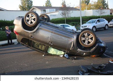 3-25-2017 Lake Forest, CA: Car Accident. Non Injury Car Accident due to distracted driving in Lake Forest California 3-25-2019.