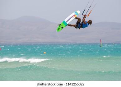 33. Fuerteventura World Cup 2018. GKA Kitesurf Strapless Freestyle. 2018.07.21. Playa Sotavento.