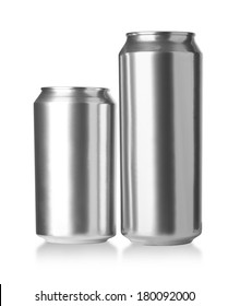 330 and 500 ml. aluminum cans, Realistic photo image
