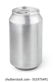 330 ml aluminum beverage drink soda can isolated on white background. 330ml aluminum soda can with clipping path
