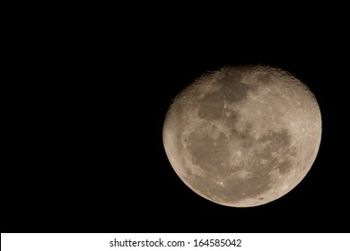 A 3/4 moon.