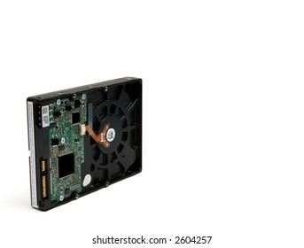 A 3.5 inch SATA hard drive for computers and other electronics.