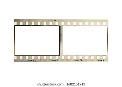 (35 mm.)Vintage film frame.With white space.film camera.