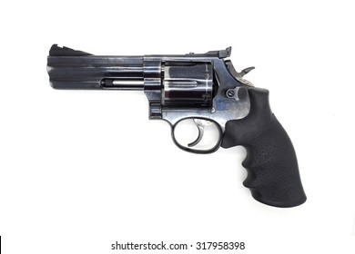 .357 revolver pistol on white background
