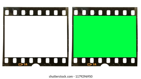 35mm dia film strip with white or green screen