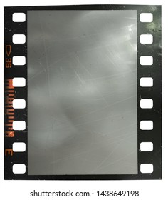 35mm film snip with scratched empty film cell