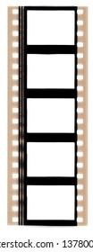 35mm film strip with empty cells