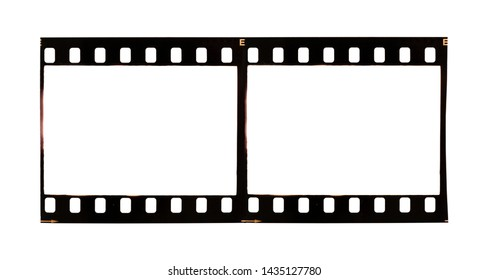 35mm film strip isolated on background