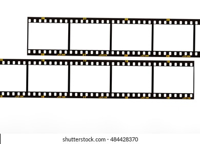 35mm. film strip isolated on white filmrolle film for camera