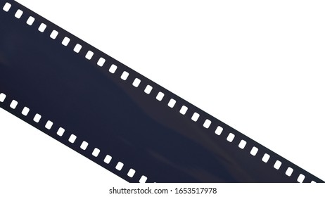 35mm filmstrip on white background with work path,(35mm)