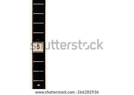 35 Mm Movie Film Number Five Frame Stock Photo (Edit Now) 266282936 ...