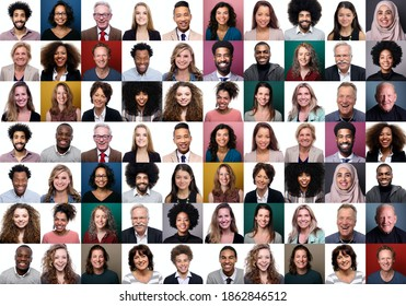 36 Beautiful happy people in front of a background - Shutterstock ID 1862846512
