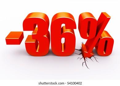 36 percent discount