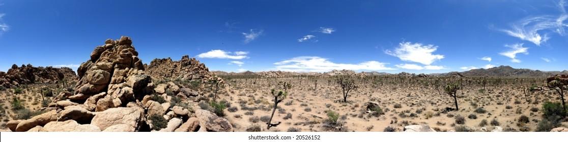 360 deg. panorama view of Joshua Tree National Park