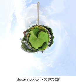 360 degree panorama of park