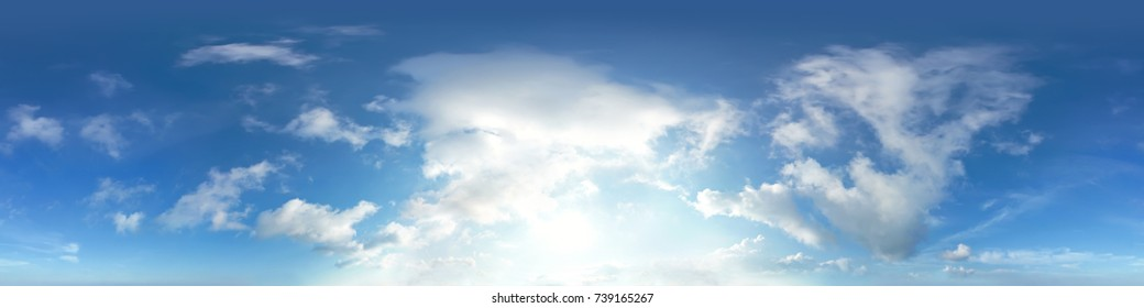 360 degree sky panorama without ground, for easy use in 3D graphics and 3D panorama (use it in your aerial and ground spherical panoramas) as a sky dome. Very high resolution - 56 Megapixels.