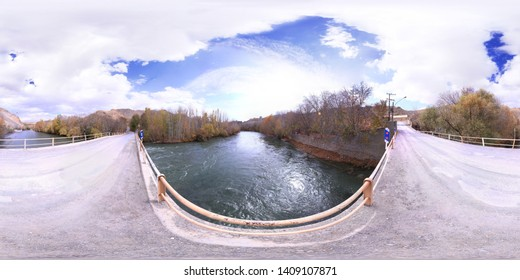 360 Degree Spherical Panorama Picture - Hore Bridge, Shahrekord, Iran