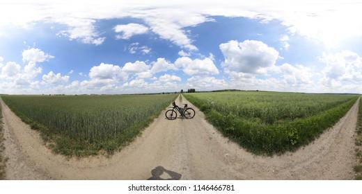 360 degrees spherical panorama nature poland