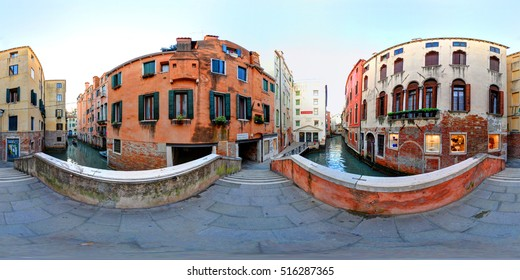 A 360 degrees view of the house of Marco Polo in Venice, now quite abandoned.